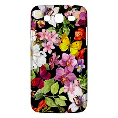 Beautiful,floral,hand painted, flowers,black,background,modern,trendy,girly,retro Samsung Galaxy Mega 5.8 I9152 Hardshell Case
