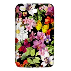 Beautiful,floral,hand painted, flowers,black,background,modern,trendy,girly,retro Samsung Galaxy Tab 3 (7 ) P3200 Hardshell Case