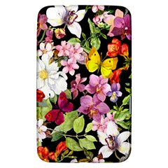 Beautiful,floral,hand painted, flowers,black,background,modern,trendy,girly,retro Samsung Galaxy Tab 3 (8 ) T3100 Hardshell Case