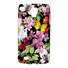 Beautiful,floral,hand painted, flowers,black,background,modern,trendy,girly,retro Galaxy S4 Active