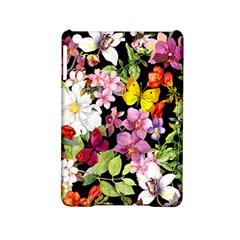 Beautiful,floral,hand painted, flowers,black,background,modern,trendy,girly,retro iPad Mini 2 Hardshell Cases