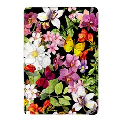 Beautiful,floral,hand painted, flowers,black,background,modern,trendy,girly,retro Samsung Galaxy Tab Pro 12.2 Hardshell Case