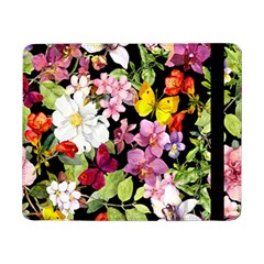 Beautiful,floral,hand painted, flowers,black,background,modern,trendy,girly,retro Samsung Galaxy Tab Pro 8.4  Flip Case