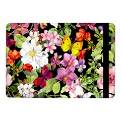 Beautiful,floral,hand painted, flowers,black,background,modern,trendy,girly,retro Samsung Galaxy Tab Pro 10.1  Flip Case