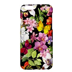 Beautiful,floral,hand painted, flowers,black,background,modern,trendy,girly,retro Apple iPhone 6 Plus/6S Plus Hardshell Case