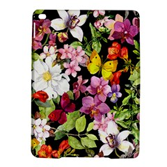Beautiful,floral,hand painted, flowers,black,background,modern,trendy,girly,retro iPad Air 2 Hardshell Cases