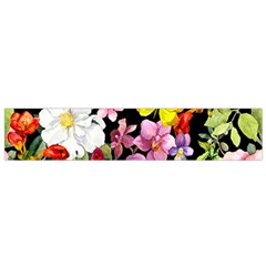 Beautiful,floral,hand painted, flowers,black,background,modern,trendy,girly,retro Small Flano Scarf