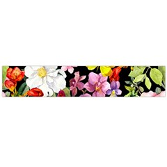 Beautiful,floral,hand painted, flowers,black,background,modern,trendy,girly,retro Large Flano Scarf