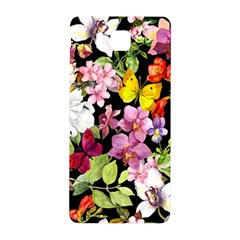Beautiful,floral,hand Painted, Flowers,black,background,modern,trendy,girly,retro Samsung Galaxy Alpha Hardshell Back Case by 8fugoso