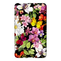 Beautiful,floral,hand painted, flowers,black,background,modern,trendy,girly,retro Samsung Galaxy Tab 4 (7 ) Hardshell Case