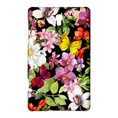 Beautiful,floral,hand Painted, Flowers,black,background,modern,trendy,girly,retro Samsung Galaxy Tab S (8 4 ) Hardshell Case  by 8fugoso