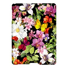 Beautiful,floral,hand painted, flowers,black,background,modern,trendy,girly,retro Samsung Galaxy Tab S (10.5 ) Hardshell Case