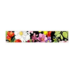Beautiful,floral,hand painted, flowers,black,background,modern,trendy,girly,retro Flano Scarf (Mini)