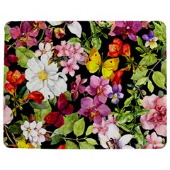 Beautiful,floral,hand painted, flowers,black,background,modern,trendy,girly,retro Jigsaw Puzzle Photo Stand (Rectangular)