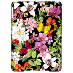Beautiful,floral,hand painted, flowers,black,background,modern,trendy,girly,retro Apple iPad Pro 9.7   Hardshell Case