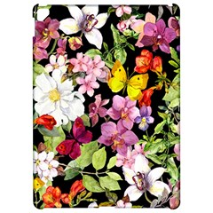 Beautiful,floral,hand painted, flowers,black,background,modern,trendy,girly,retro Apple iPad Pro 12.9   Hardshell Case
