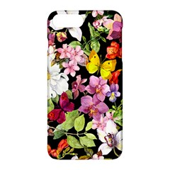Beautiful,floral,hand painted, flowers,black,background,modern,trendy,girly,retro Apple iPhone 7 Plus Hardshell Case