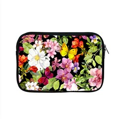 Beautiful,floral,hand painted, flowers,black,background,modern,trendy,girly,retro Apple MacBook Pro 15  Zipper Case