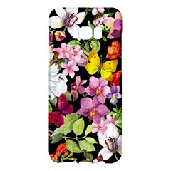 Beautiful,floral,hand painted, flowers,black,background,modern,trendy,girly,retro Samsung Galaxy S8 Plus Hardshell Case