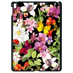 Beautiful,floral,hand painted, flowers,black,background,modern,trendy,girly,retro Apple iPad Pro 9.7   Black Seamless Case