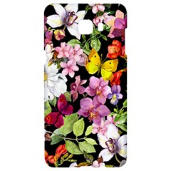 Beautiful,floral,hand painted, flowers,black,background,modern,trendy,girly,retro Samsung C9 Pro Hardshell Case