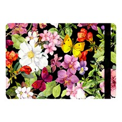 Beautiful,floral,hand painted, flowers,black,background,modern,trendy,girly,retro Apple iPad Pro 10.5   Flip Case