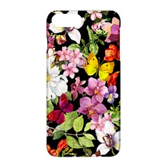 Beautiful,floral,hand painted, flowers,black,background,modern,trendy,girly,retro Apple iPhone 8 Plus Hardshell Case
