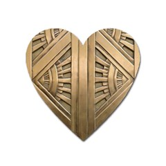 Art Deco Gold Door Heart Magnet by 8fugoso