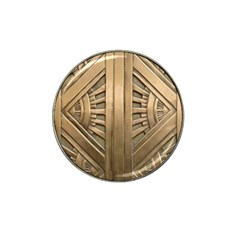 Art Deco Gold Door Hat Clip Ball Marker (10 Pack) by 8fugoso