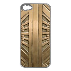 Art Deco Gold Door Apple Iphone 5 Case (silver) by 8fugoso