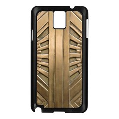 Art Deco Gold Door Samsung Galaxy Note 3 N9005 Case (black) by 8fugoso