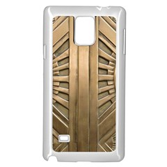 Art Deco Gold Door Samsung Galaxy Note 4 Case (white) by 8fugoso