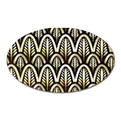 Art Deco Oval Magnet by 8fugoso