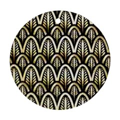 Art Deco Round Ornament (two Sides) by 8fugoso