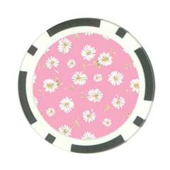 Pink Flowers Poker Chip Card Guard by 8fugoso