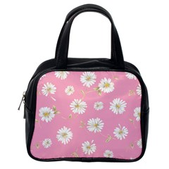 Pink Flowers Classic Handbags (one Side) by 8fugoso