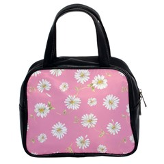 Pink Flowers Classic Handbags (2 Sides) by 8fugoso