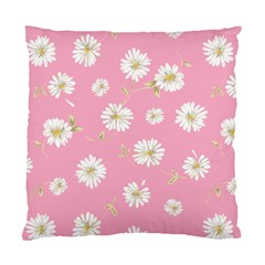 Pink Flowers Standard Cushion Case (two Sides) by 8fugoso