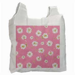 Pink Flowers Recycle Bag (two Side)  by 8fugoso