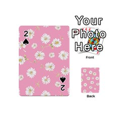Pink Flowers Playing Cards 54 (mini)  by 8fugoso