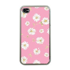 Pink Flowers Apple Iphone 4 Case (clear) by 8fugoso