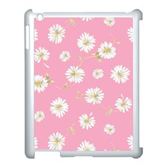 Pink Flowers Apple Ipad 3/4 Case (white) by 8fugoso