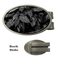Black And White Leaves Photo Money Clips (oval)  by dflcprintsclothing