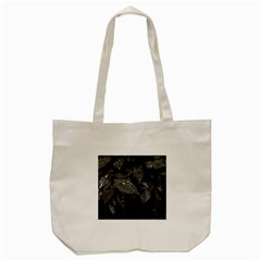 Black And White Leaves Photo Tote Bag (cream) by dflcprintsclothing