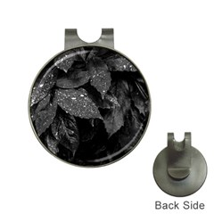 Black And White Leaves Photo Hat Clips With Golf Markers by dflcprintsclothing