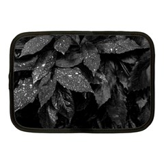 Black And White Leaves Photo Netbook Case (medium)  by dflcprintsclothing
