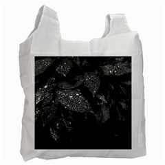 Black And White Leaves Photo Recycle Bag (one Side) by dflcprintsclothing