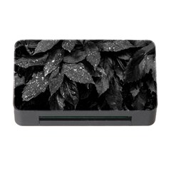Black And White Leaves Photo Memory Card Reader With Cf by dflcprintsclothing