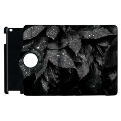 Black And White Leaves Photo Apple Ipad 3/4 Flip 360 Case by dflcprintsclothing