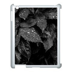 Black And White Leaves Photo Apple Ipad 3/4 Case (white) by dflcprintsclothing